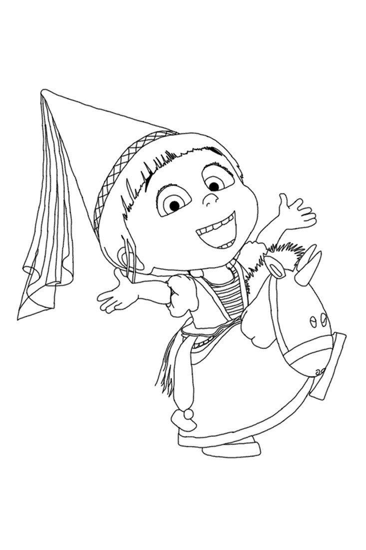 Агнес - Картинка для раскрашивания красками-гуашью