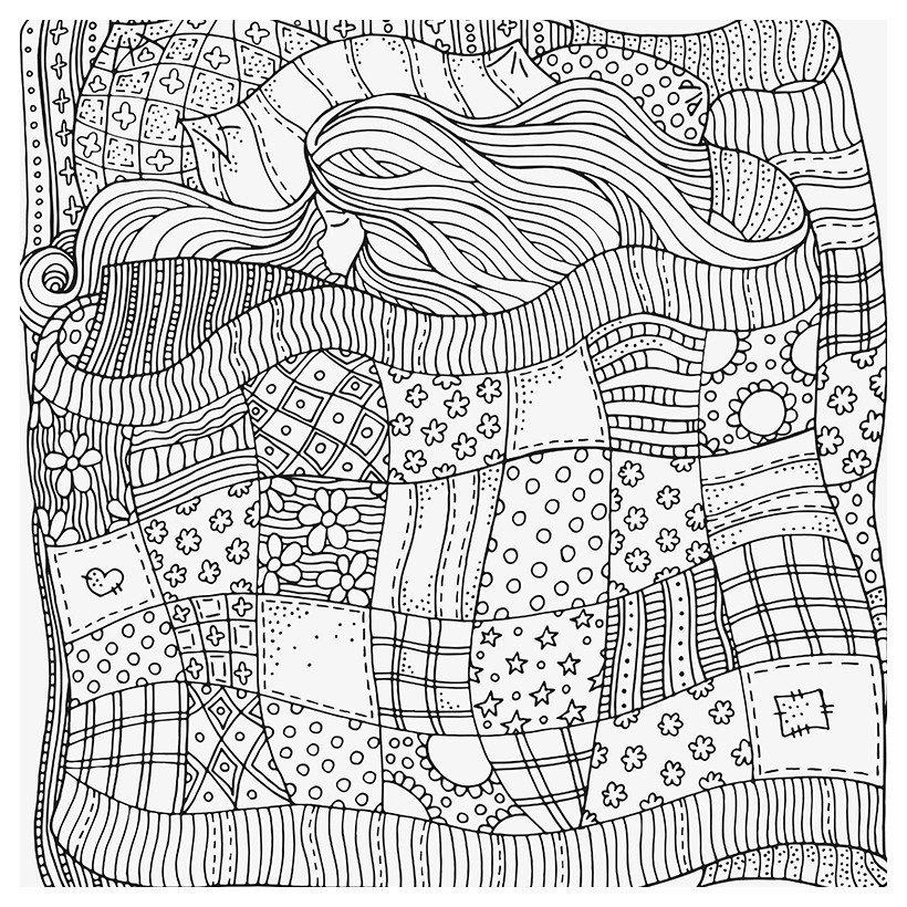 Антистресс Сон - Картинка для раскрашивания красками-гуашью