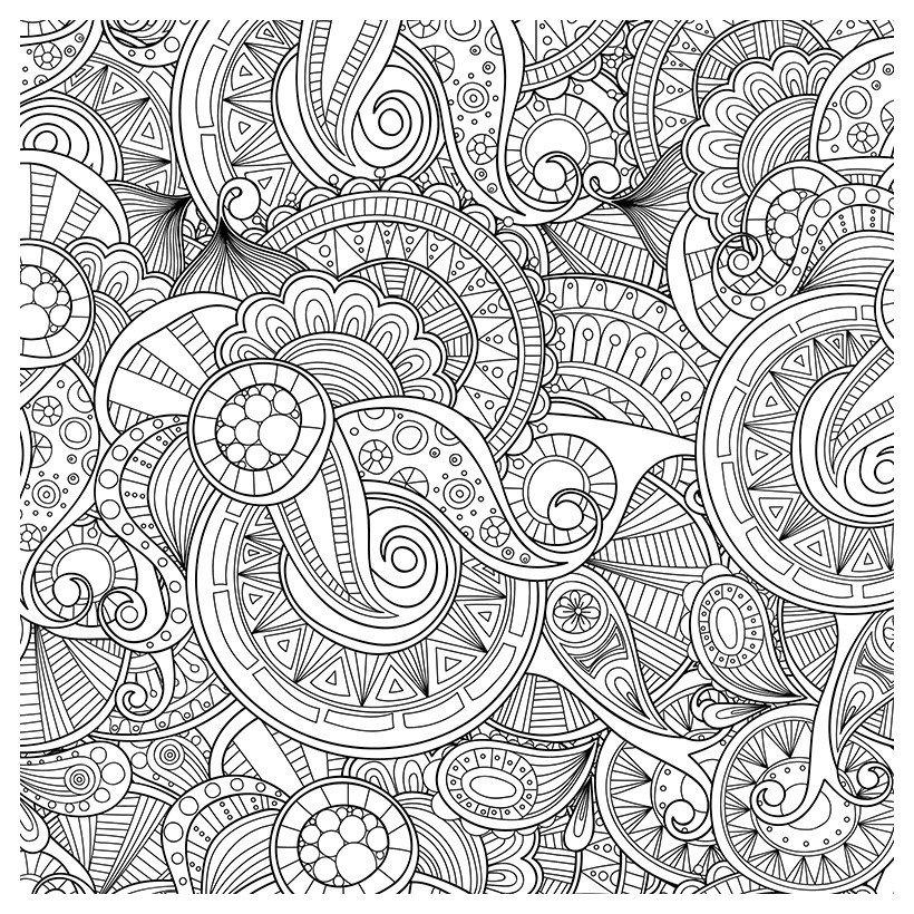 Антистресс Зентангл - Картинка для раскрашивания красками-гуашью