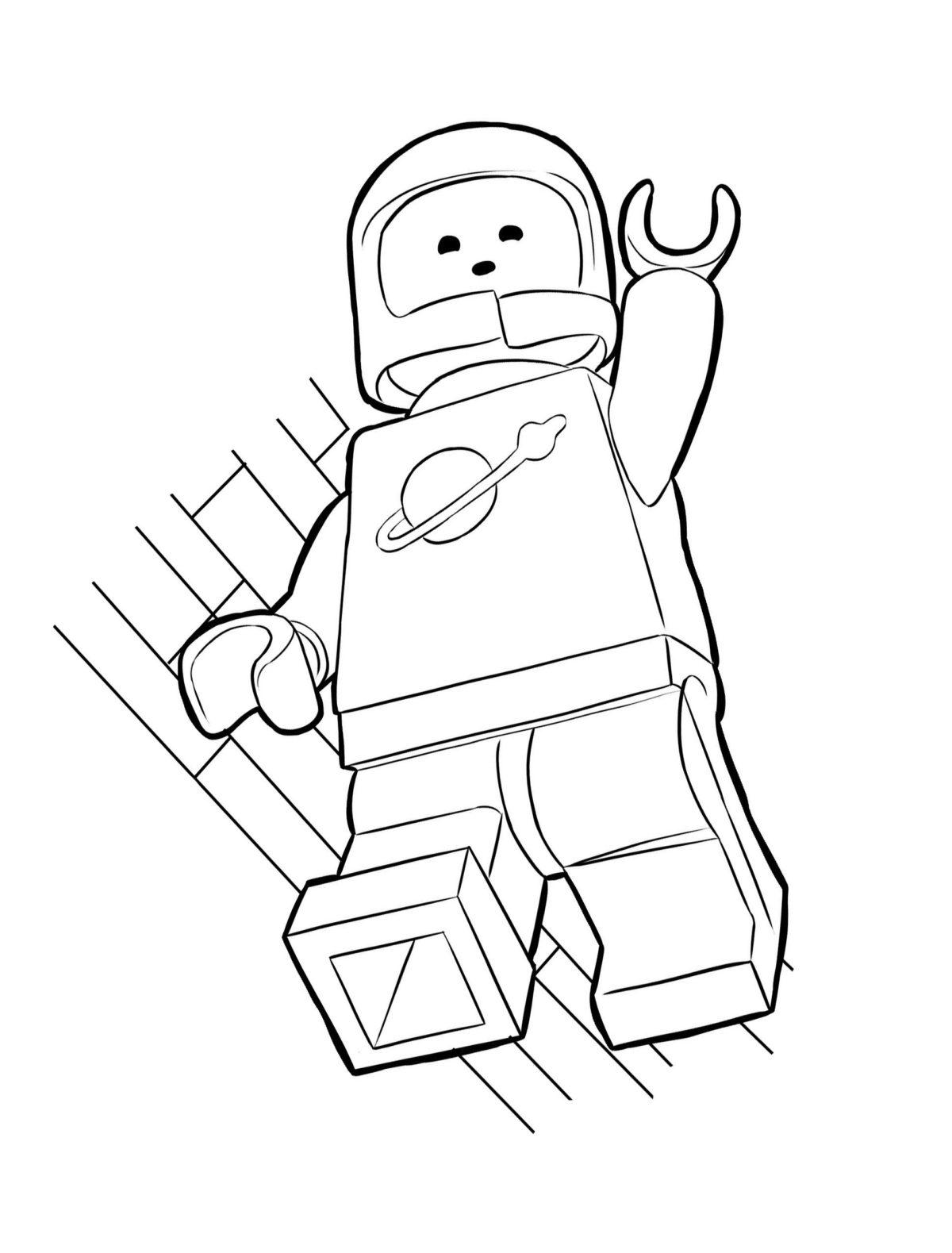 Бенни-космонавт - Картинка для раскрашивания красками-гуашью