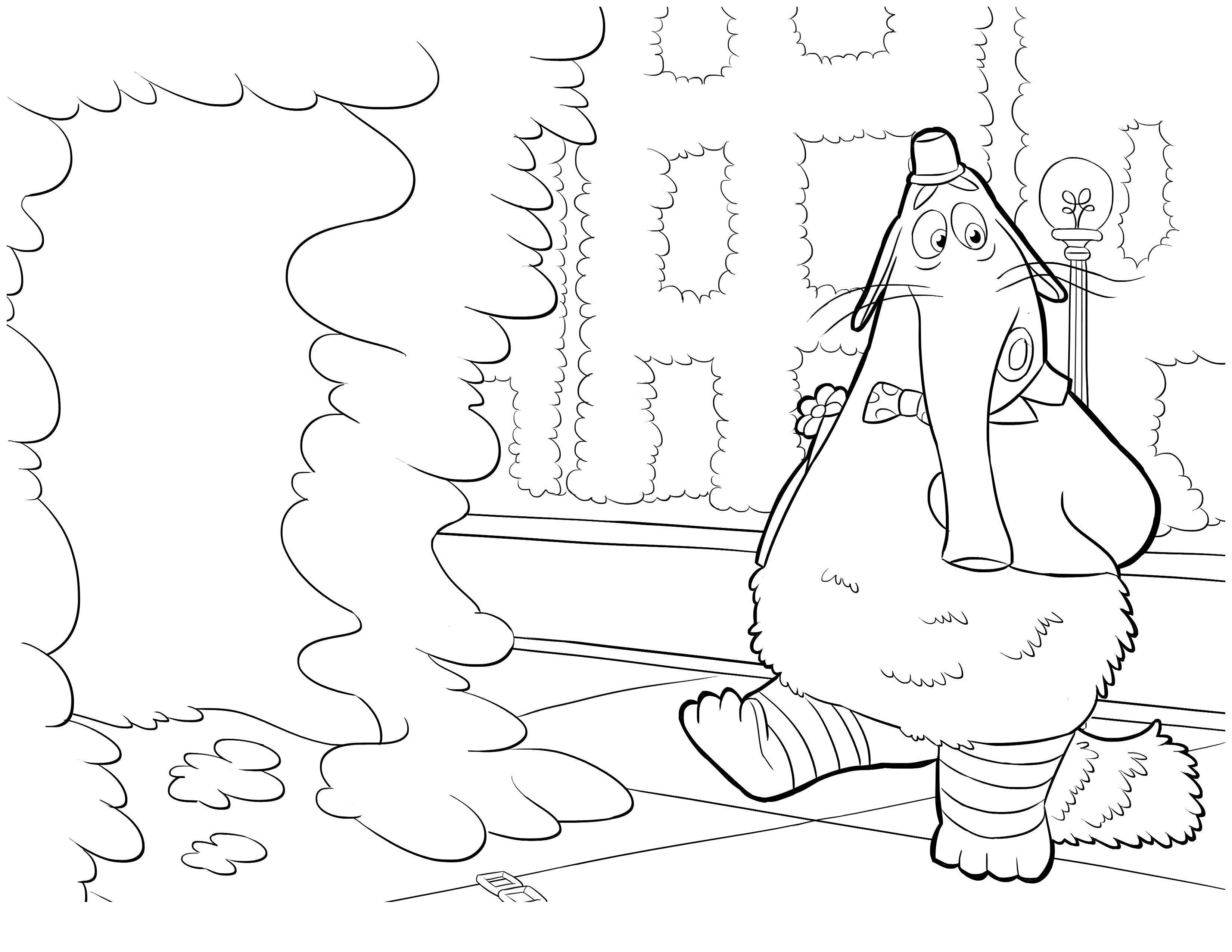 Картинка для раскраски «Бинго-Бонго»