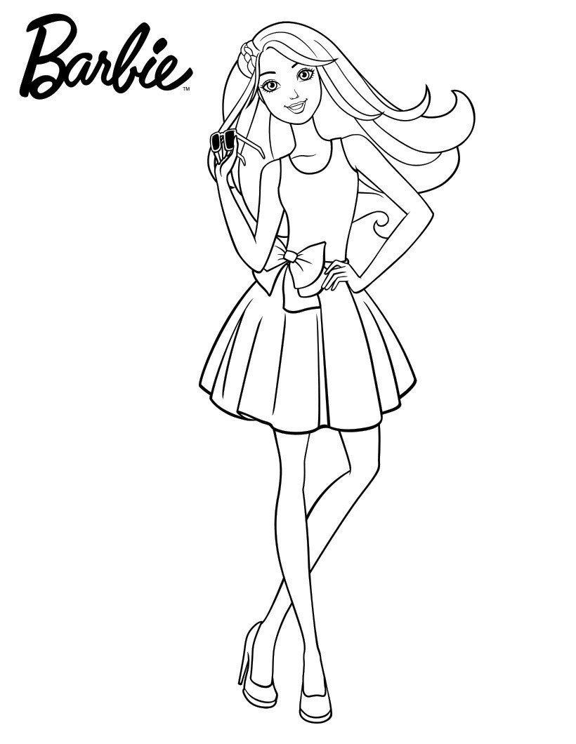 Брендовые очки Барби - Картинка для раскрашивания красками-гуашью
