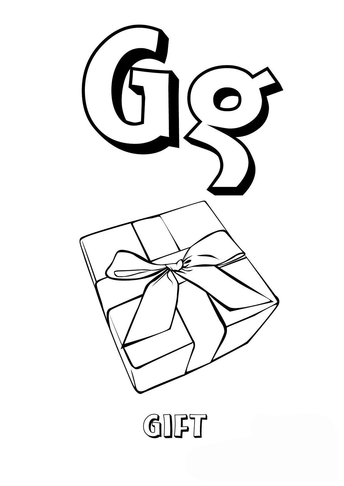 Картинка для раскраски «Буква G английского алфавита»