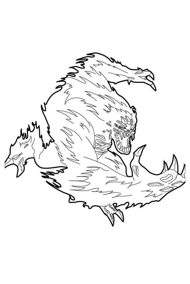 Фью - Картинка для раскрашивания красками-гуашью