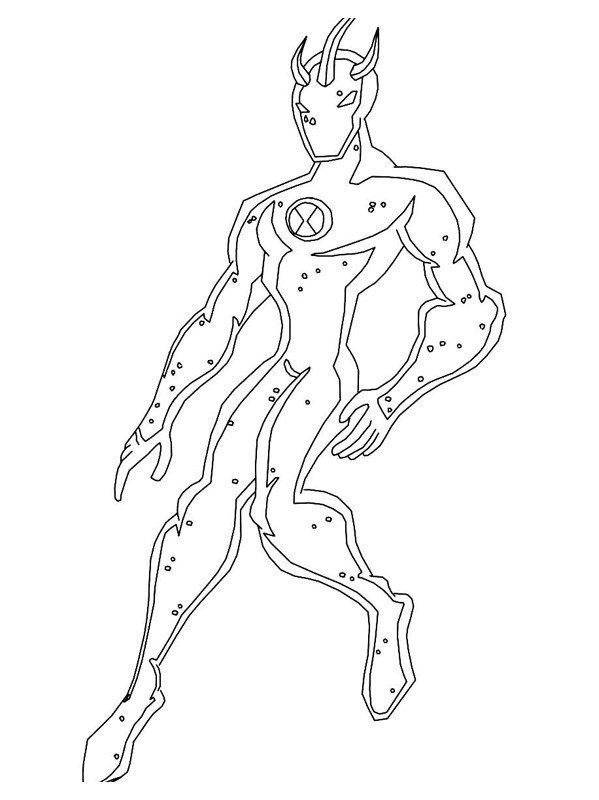 Герой X - Картинка для раскрашивания красками-гуашью