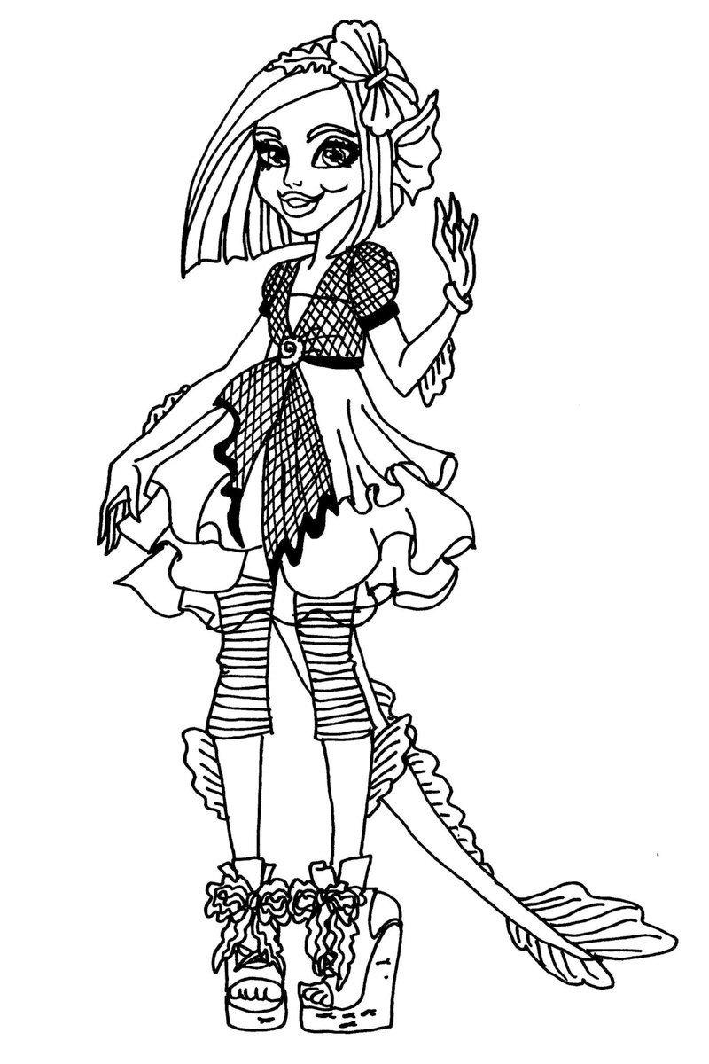 Картинка для раскраски «Гриммили Энн МакШмиддлебоппер»
