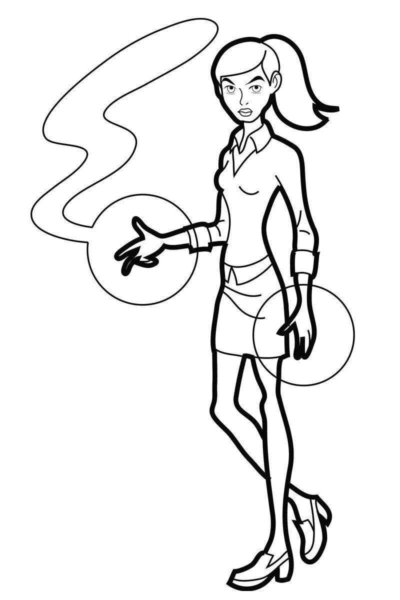 Гвен (Гвендолин Теннисон) - Картинка для раскрашивания красками-гуашью