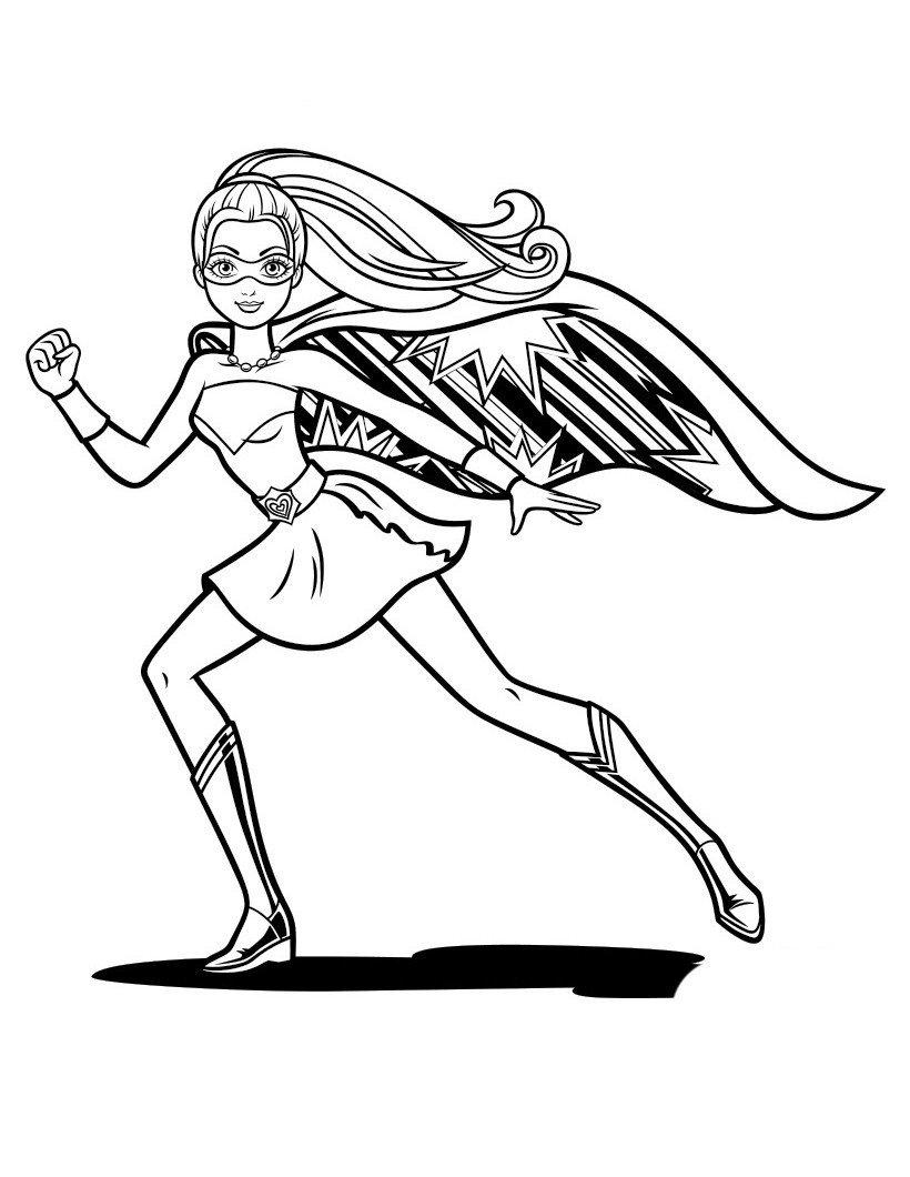 Кара - супергероиня - Картинка для раскрашивания красками-гуашью