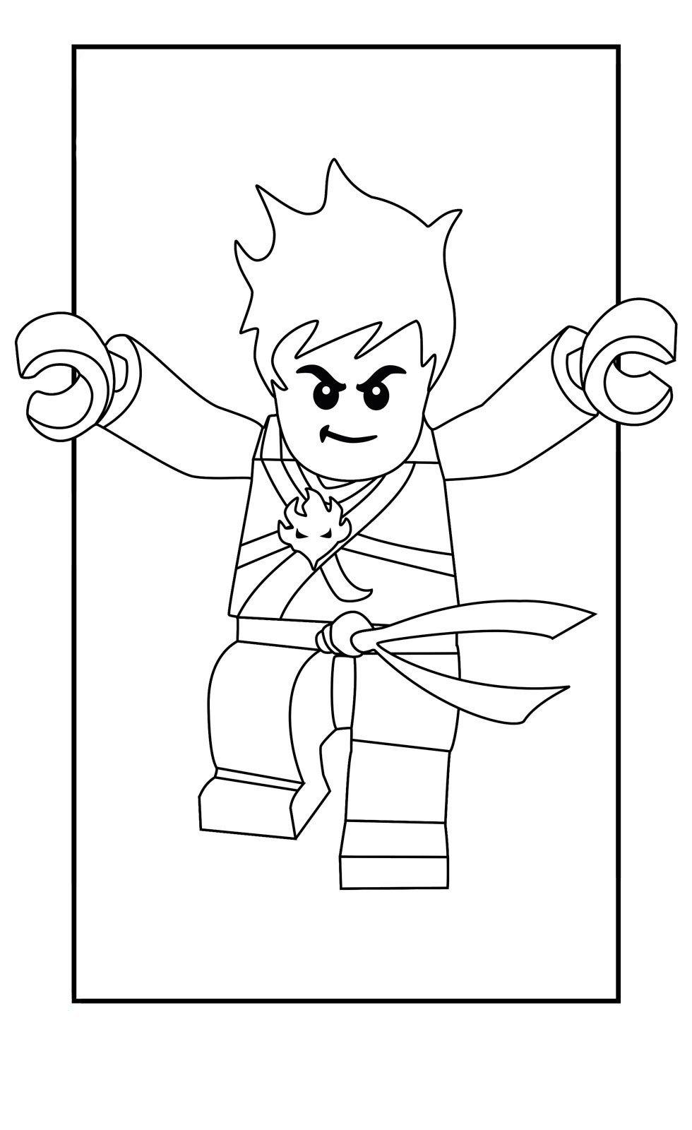 Картинка для раскраски «Кай – ниндзя огня»