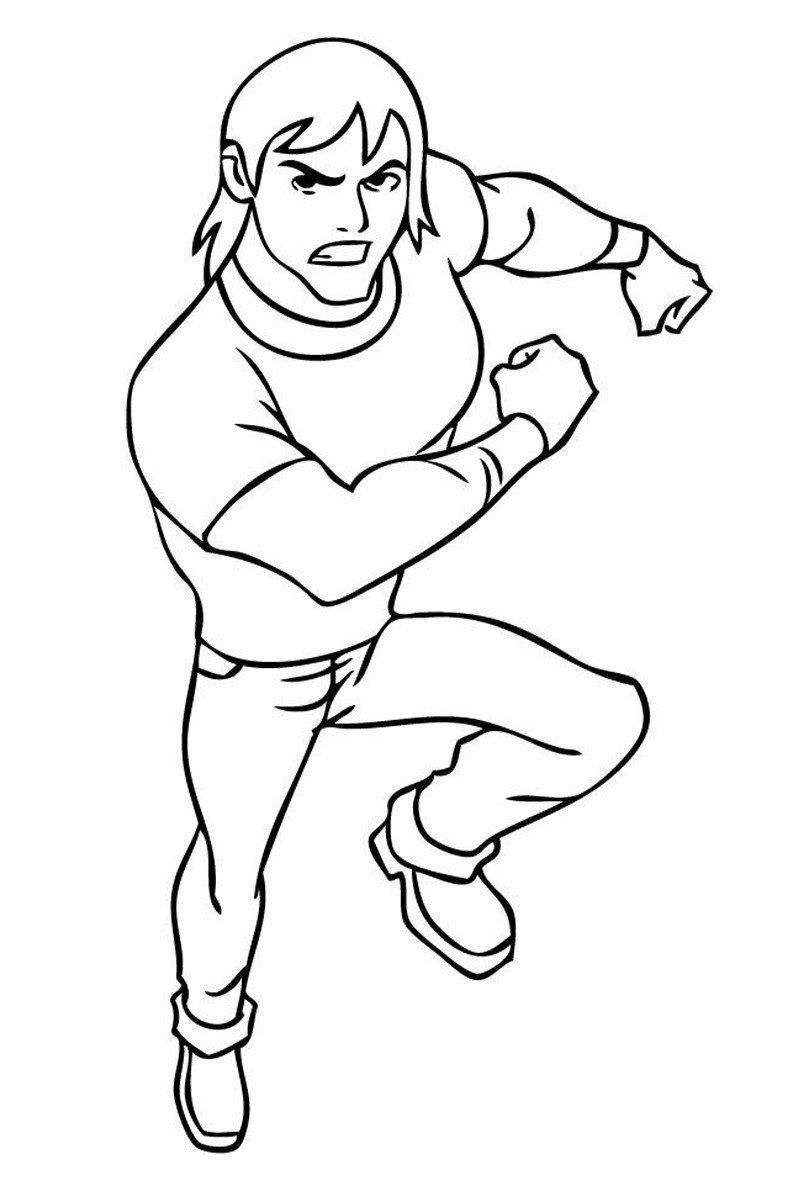 Кевин 11 (Кевин Элевин) - Картинка для раскрашивания красками-гуашью