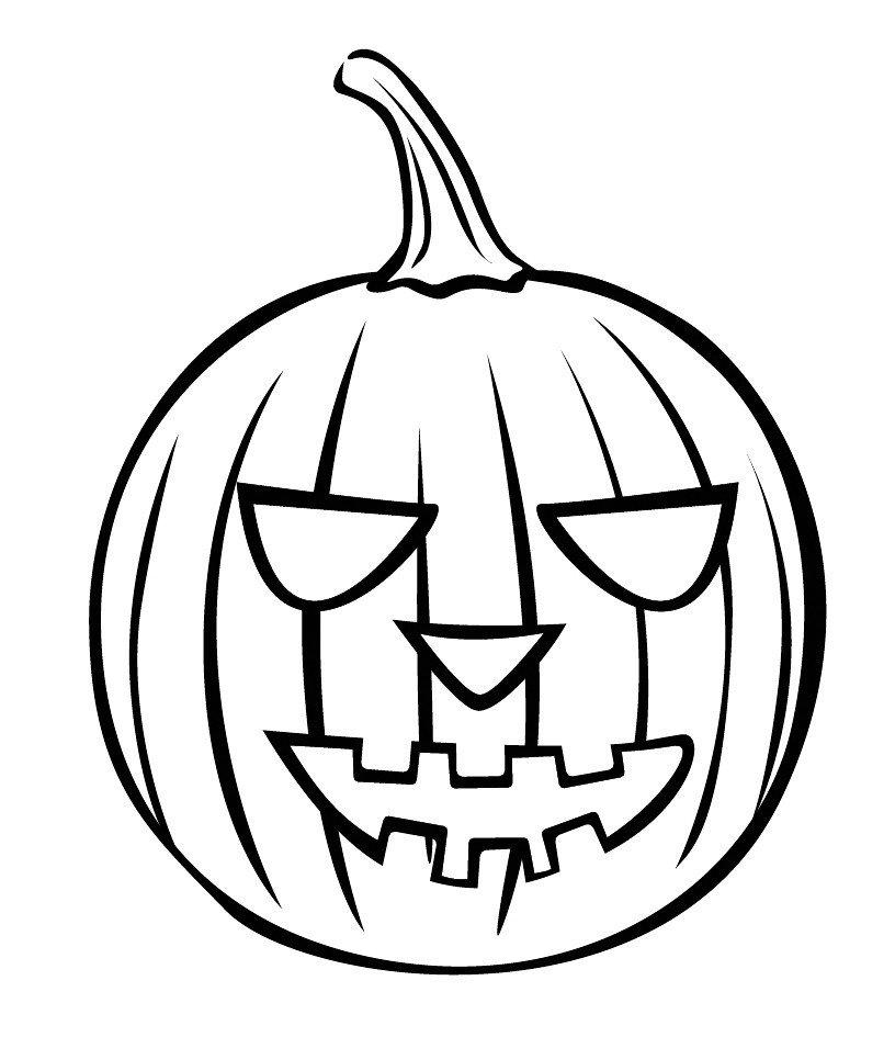Хэллоуинская тыква - Картинка для раскрашивания красками-гуашью