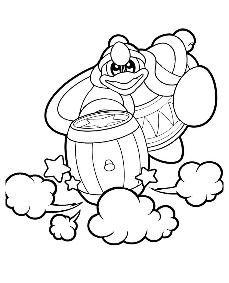 Король ДиДиДи - Картинка для раскрашивания красками-гуашью