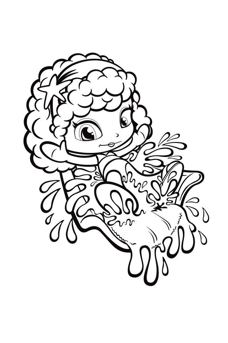 Кукла Пинипон - Картинка для раскрашивания красками-гуашью