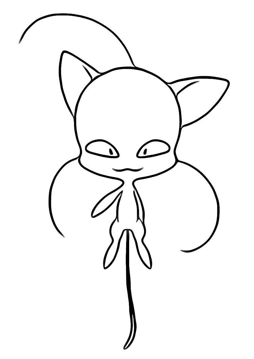 Квами Плагг - Картинка для раскрашивания красками-гуашью