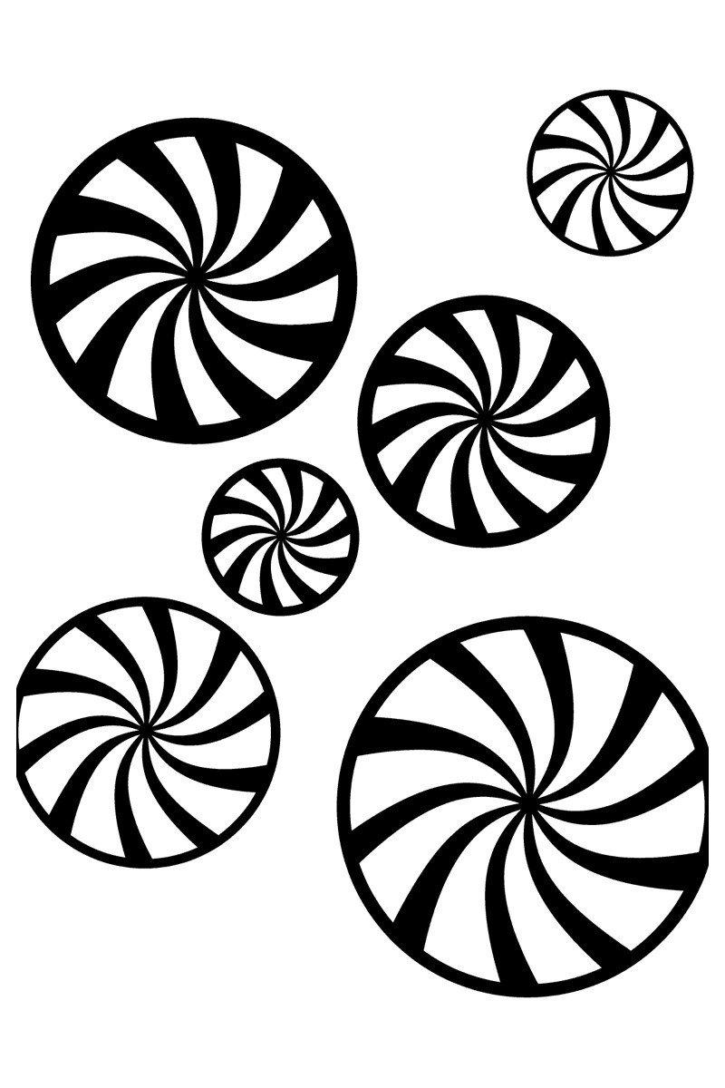 Леденцы - Картинка для раскрашивания красками-гуашью