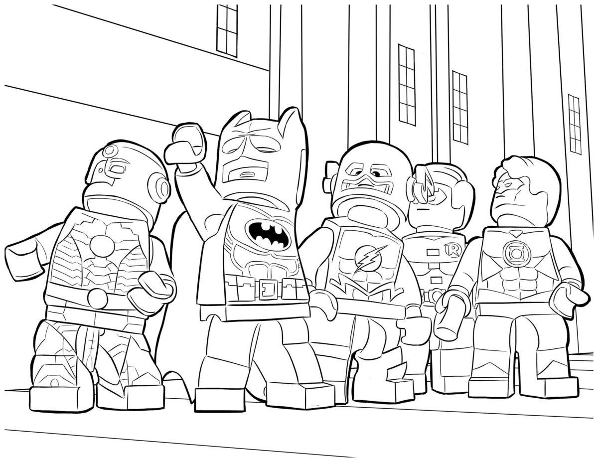 Лига Справедливости - Картинка для раскрашивания красками-гуашью