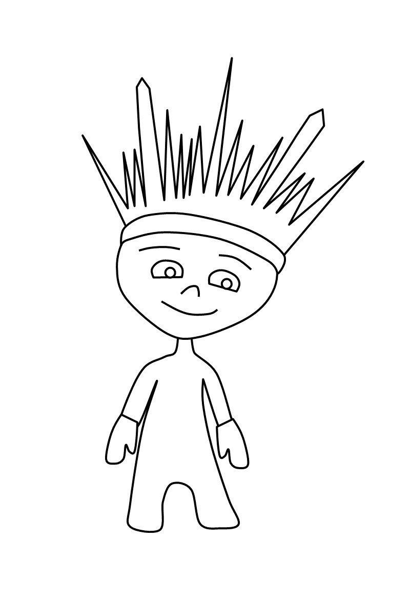 лучик (олимпийский талисман) - Картинка для раскрашивания красками-гуашью