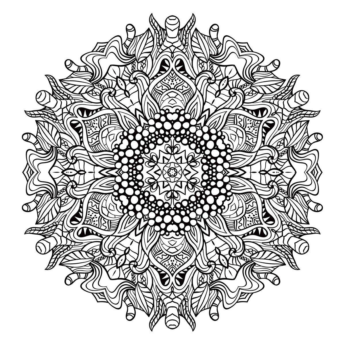 Картинка для раскраски «Мандала Поздняя осень»