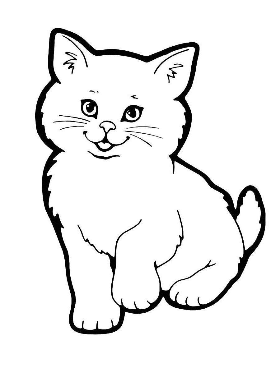 Картинка для раскраски «Милая кошечка»