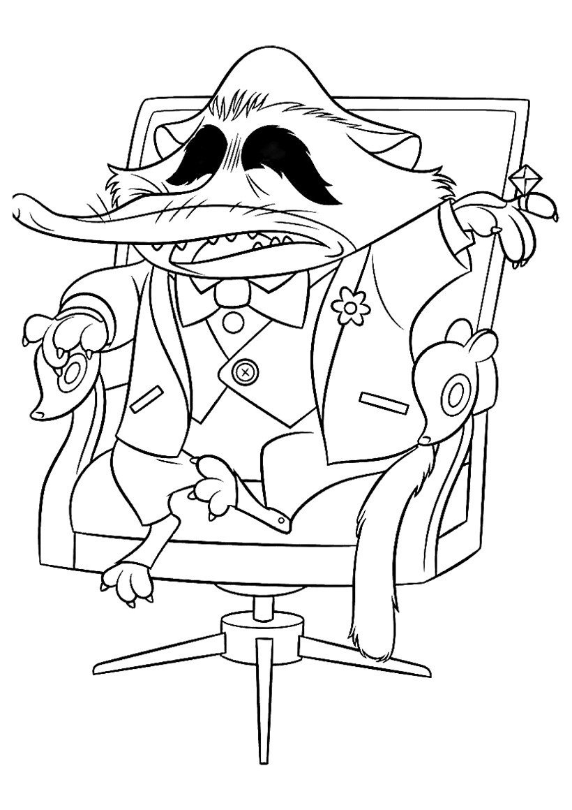 Мистер Биг - Картинка для раскрашивания красками-гуашью
