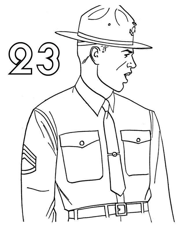 Мужской праздник 23 февраля - Картинка для раскрашивания красками-гуашью