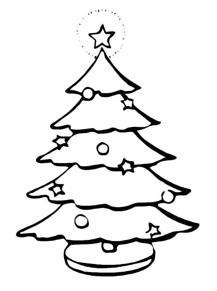 Картинка для раскраски «На новогодней елке светится верхушка»