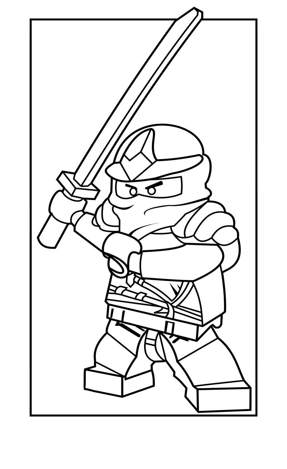 Картинка для раскраски «Ninjago Zane ZX»