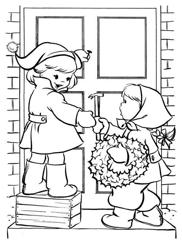 Картинка для раскраски «Новый год. Развлечения для детей»