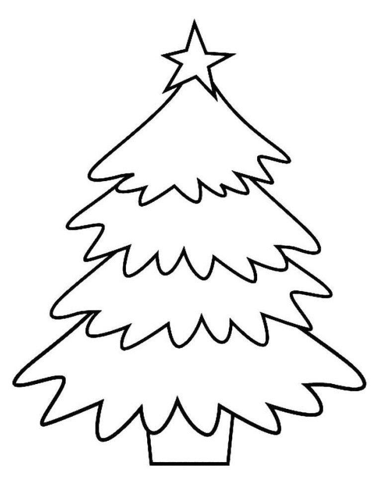 Картинка для раскраски «Новогодняя елка в кадке»