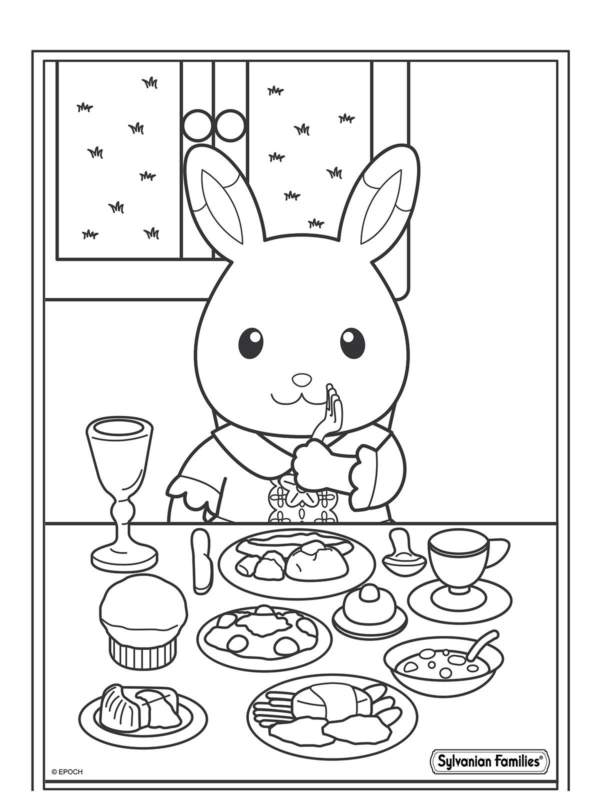 Картинка для раскраски «Обед малыша Сильвании»