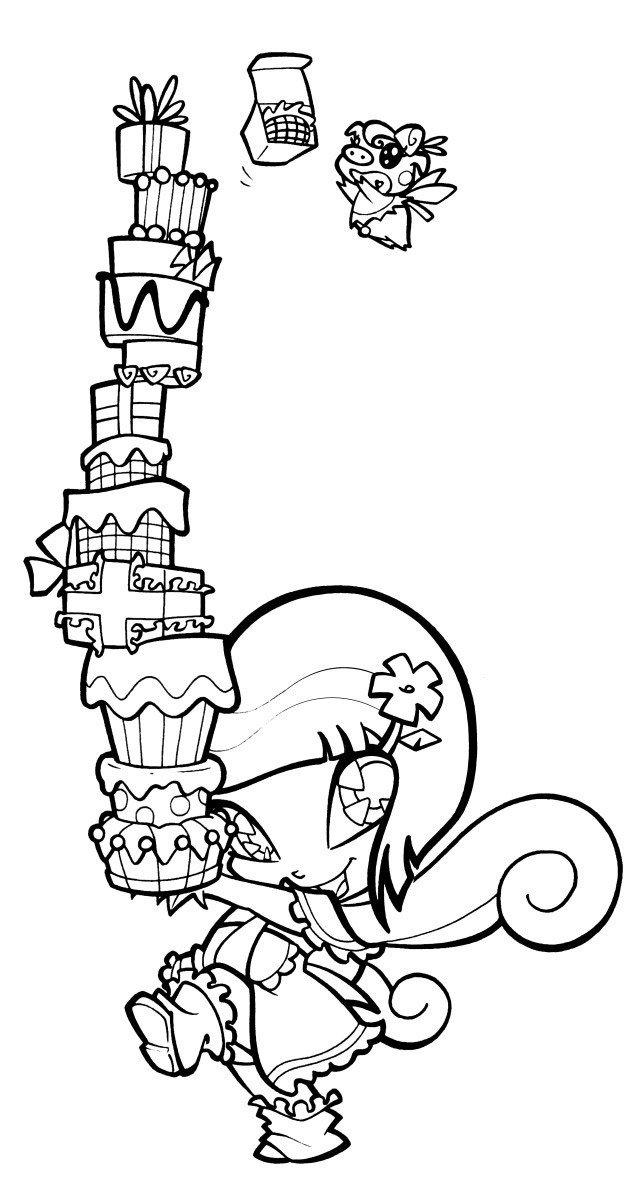 Пикси Локетт - Картинка для раскрашивания красками-гуашью