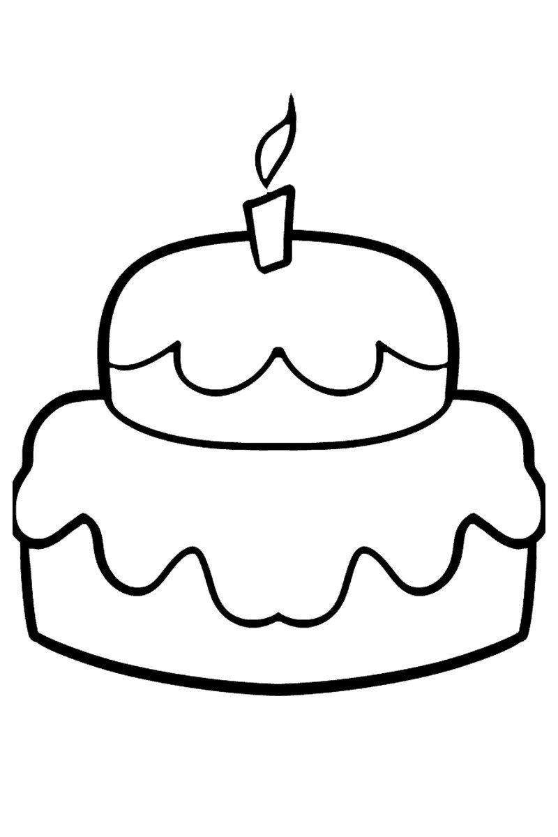 Пирожок - Картинка для раскрашивания красками-гуашью