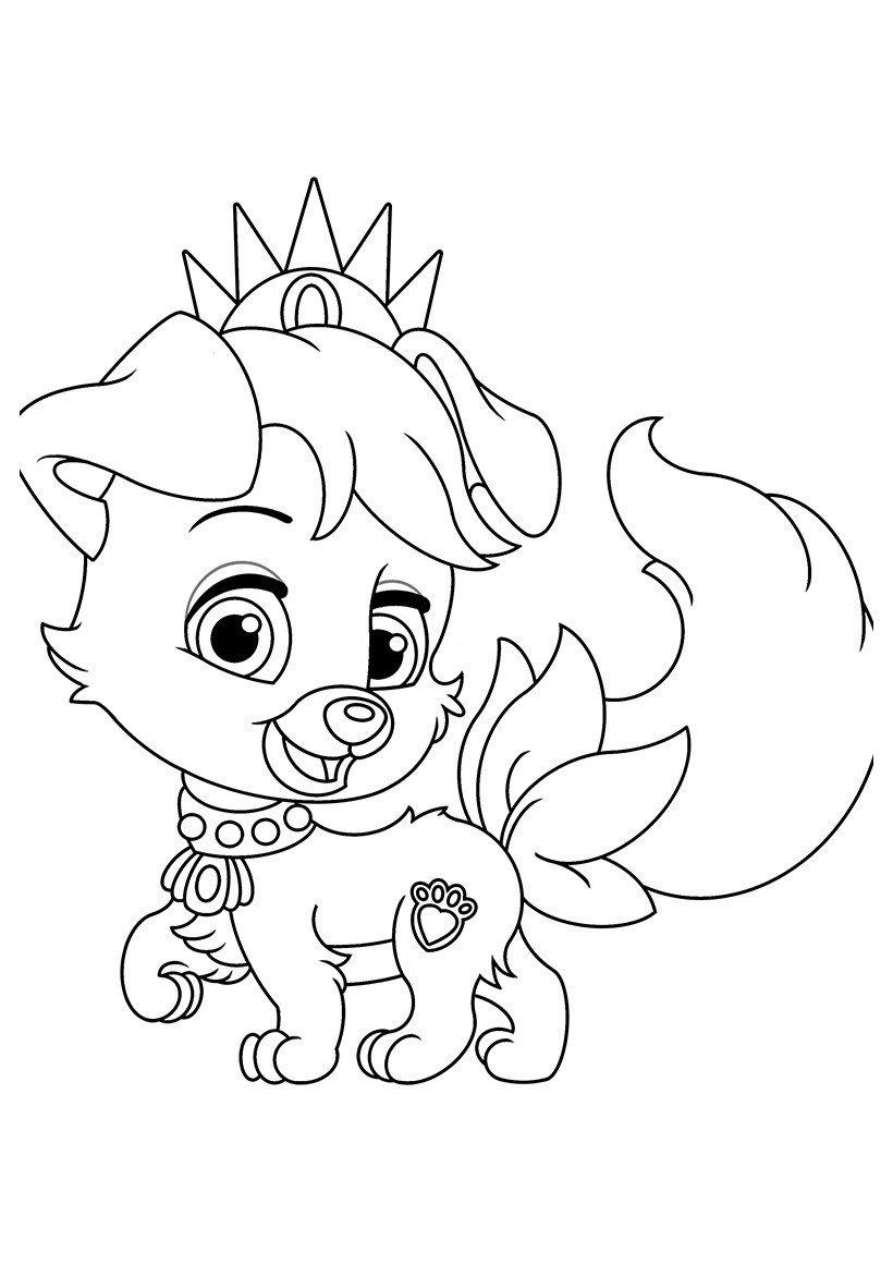 Питомец Ариэль щенок Дружок - Картинка для раскрашивания красками-гуашью