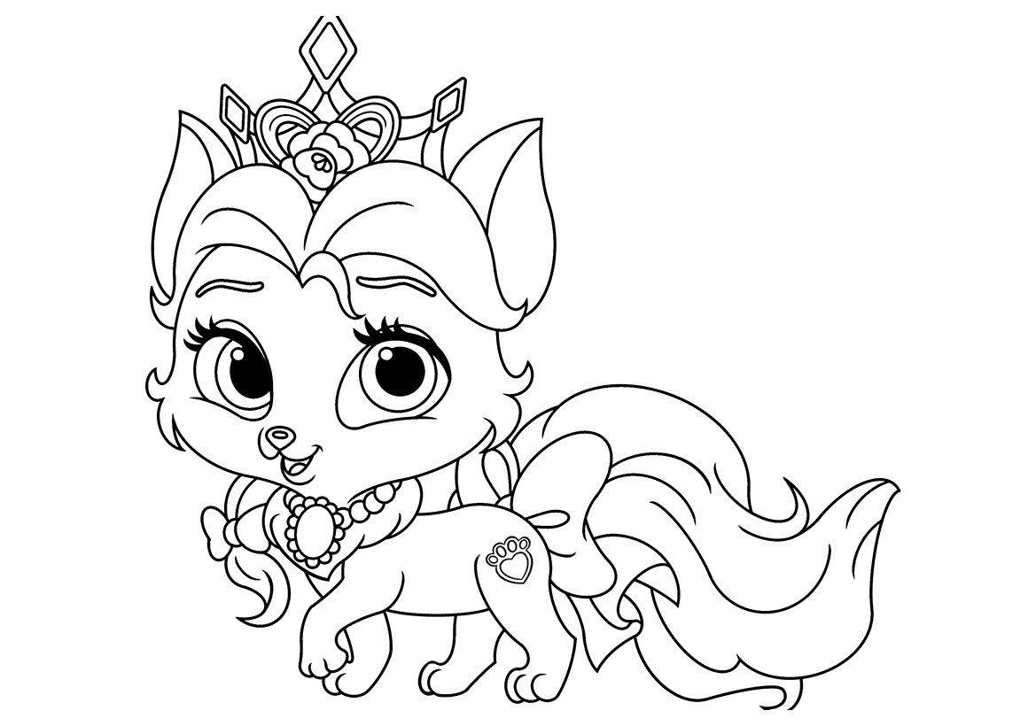 Картинка для раскраски «Питомец Белль котёнок Красотка»