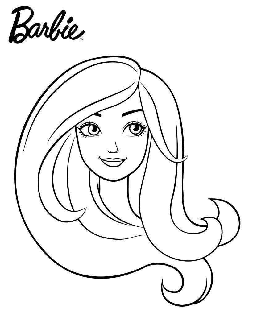 Портрет Барби - Картинка для раскрашивания красками-гуашью