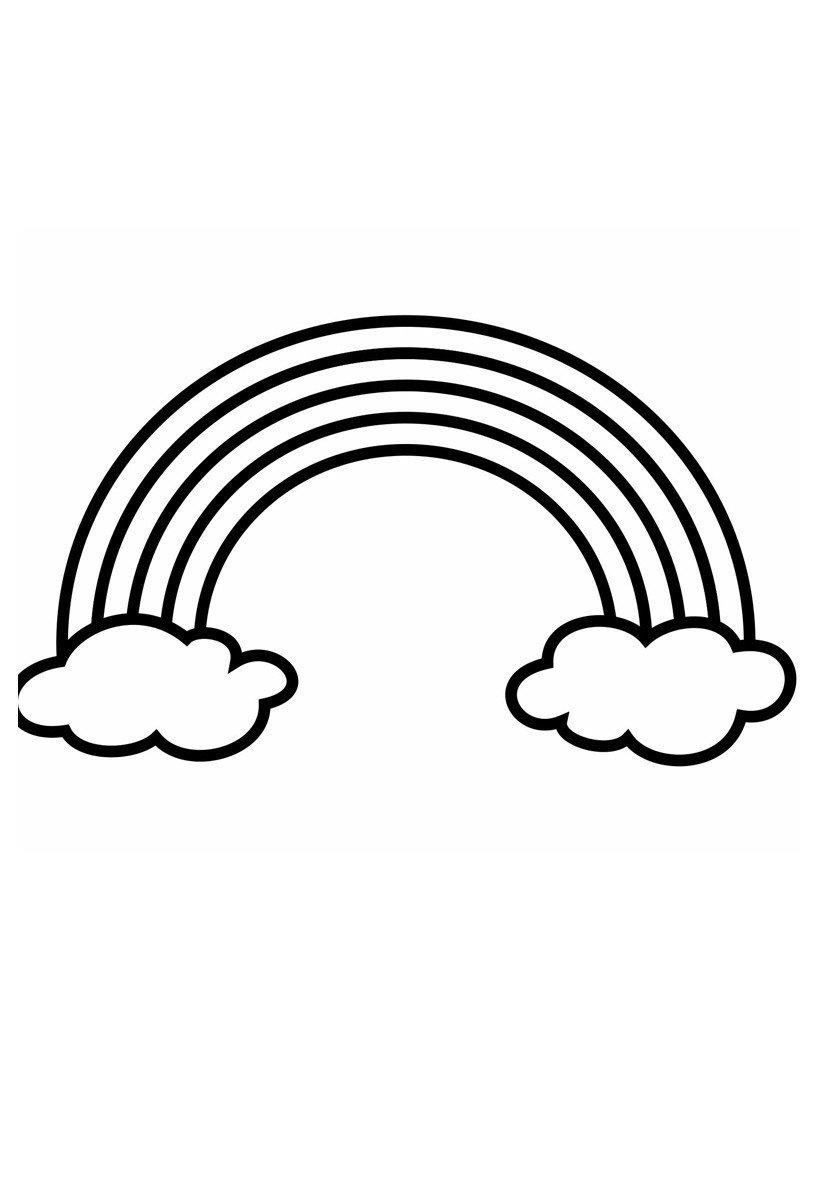 Радуга - Картинка для раскрашивания красками-гуашью