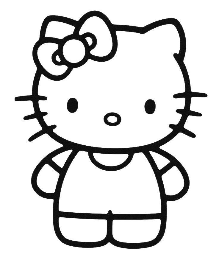Сестра Китти - Мимми - Картинка для раскрашивания красками-гуашью