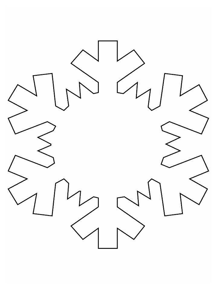 Картинка для раскраски «Снежинка с капелькой воды»