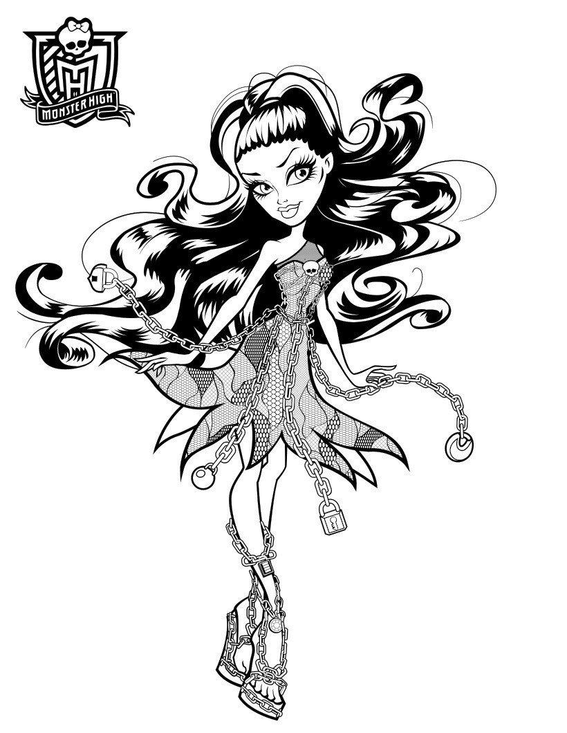 Картинка для раскраски «Спектра Вондергейст «ШМ: призрачно/»