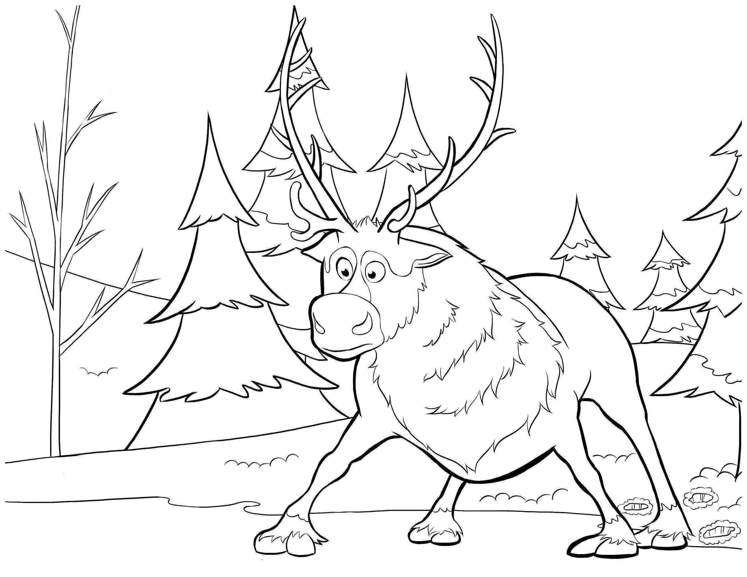 Картинка для раскраски «Свен на льду»