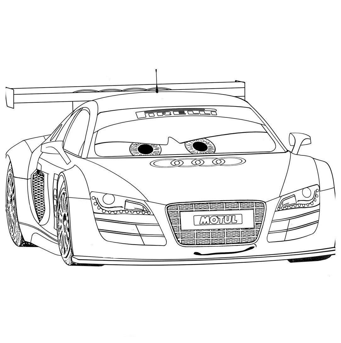 Картинка для раскраски «Тачка Audi»