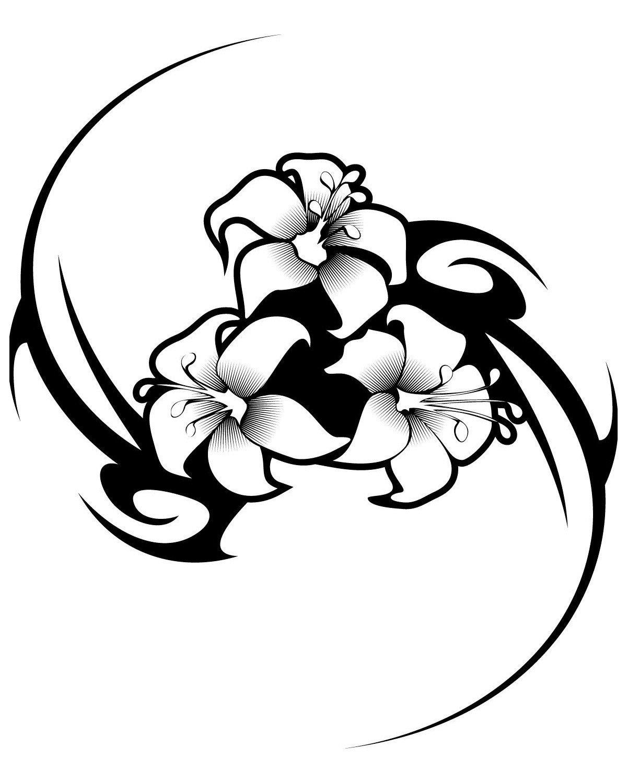 Цветы - Картинка для раскрашивания красками-гуашью