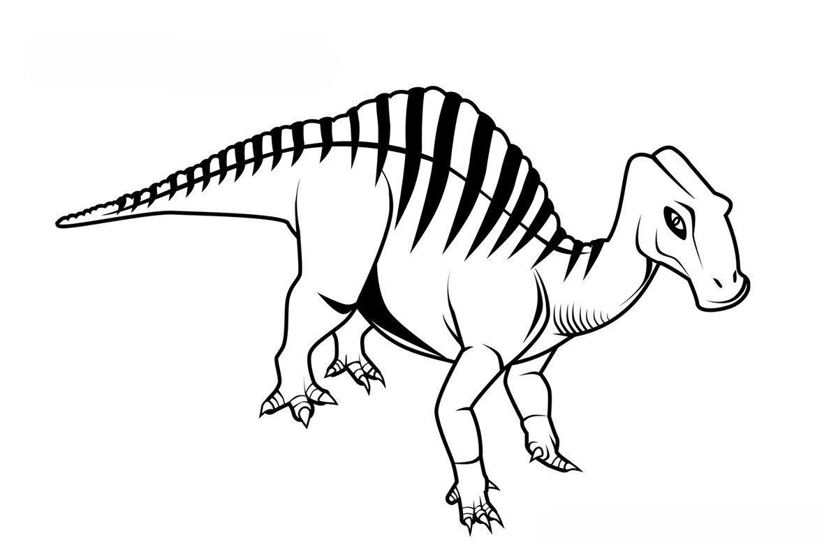 Уранозавр - Картинка для раскрашивания красками-гуашью