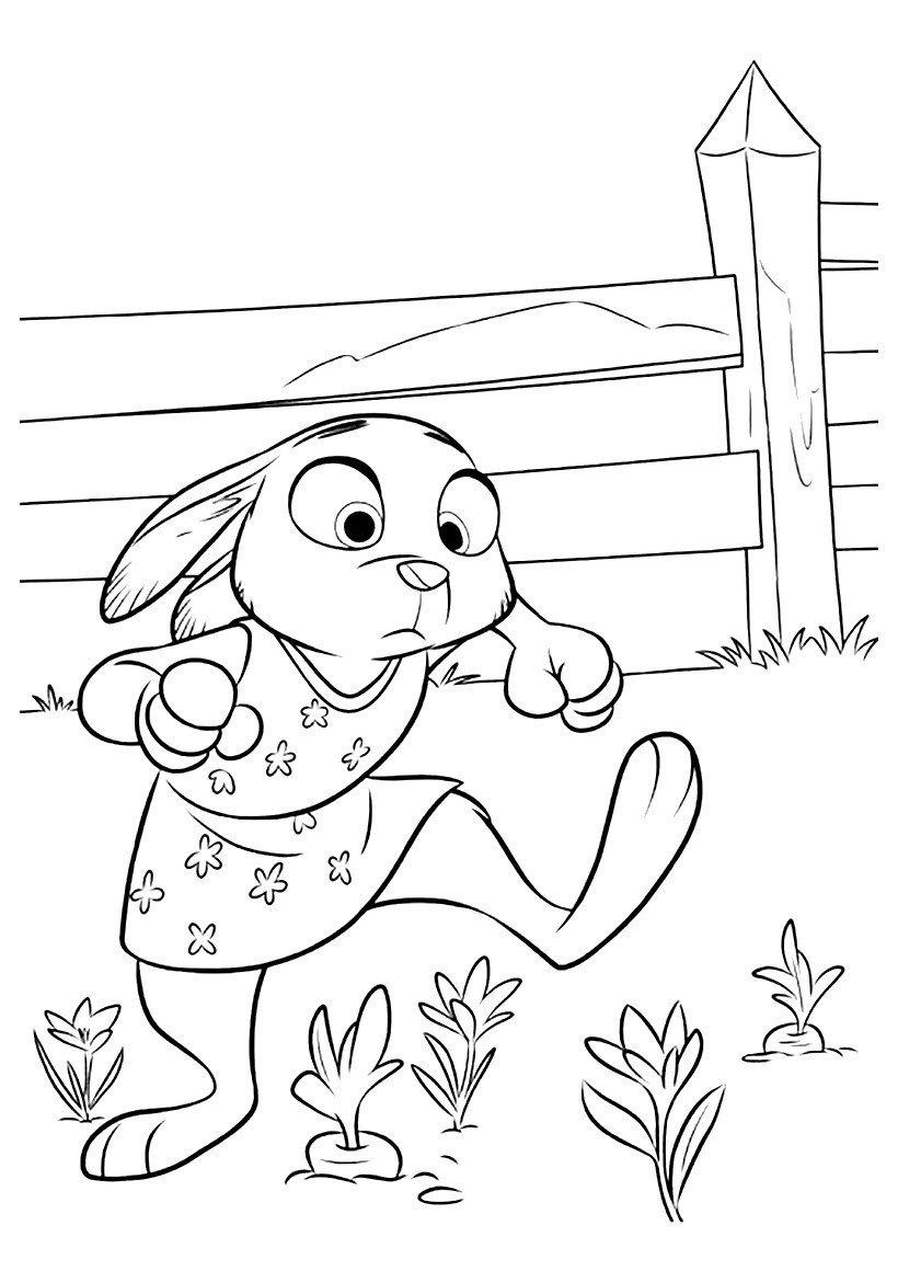 Картинка для раскраски «Юная Джуди»