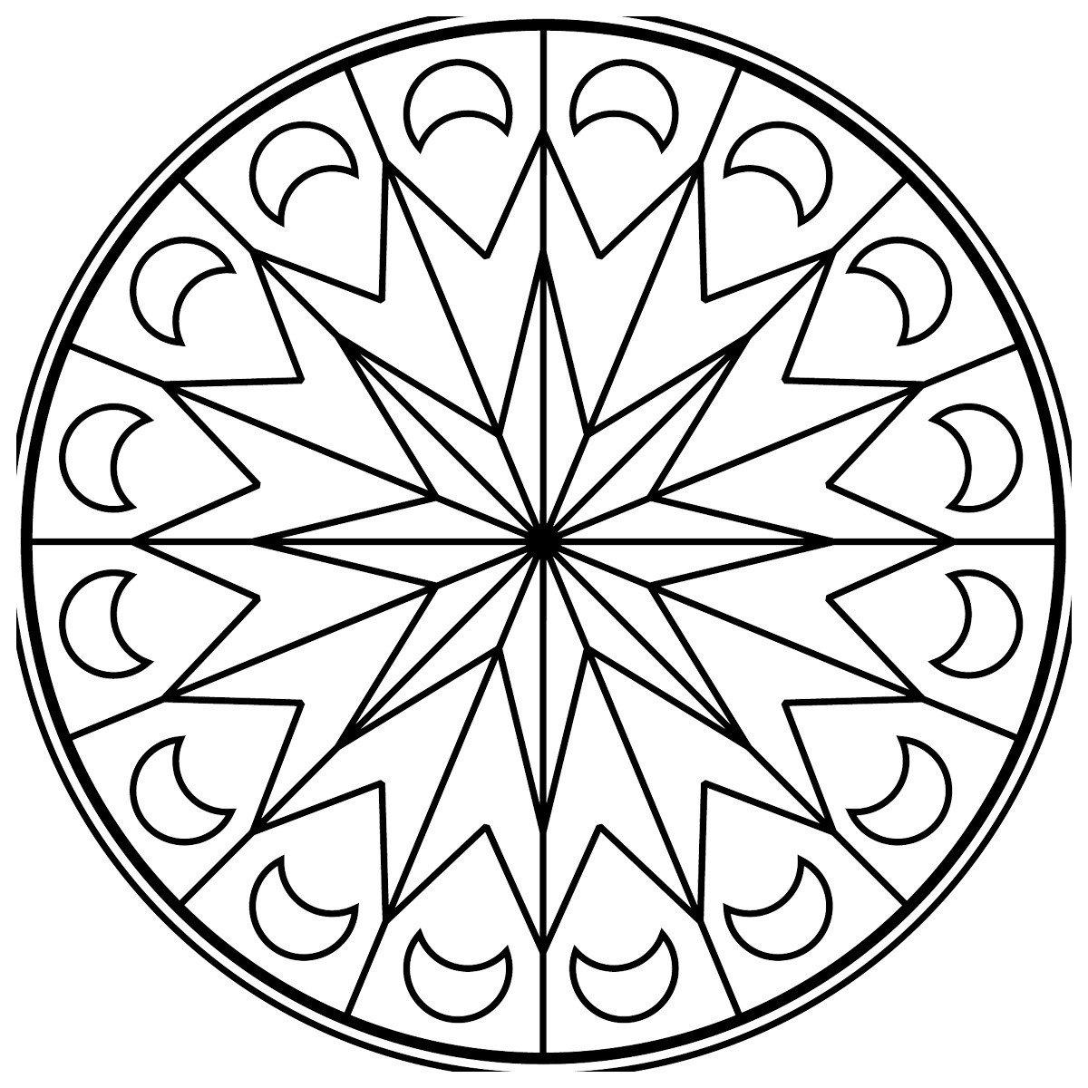 Зендала Лунная - Картинка для раскрашивания красками-гуашью