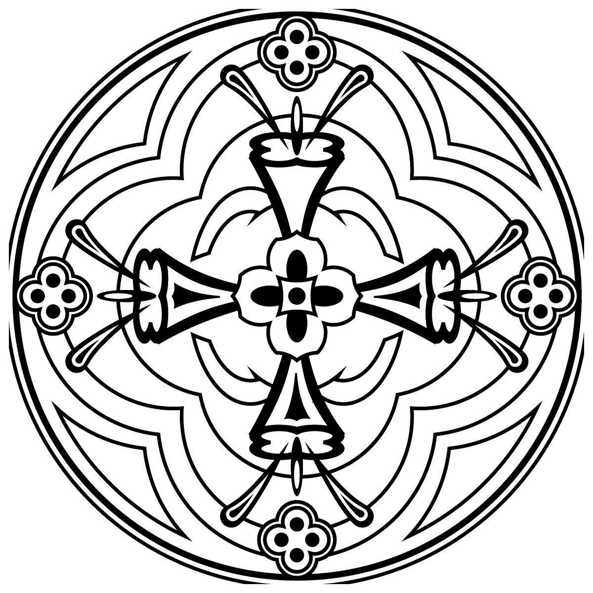 Зендала Праздничная - Картинка для раскрашивания красками-гуашью